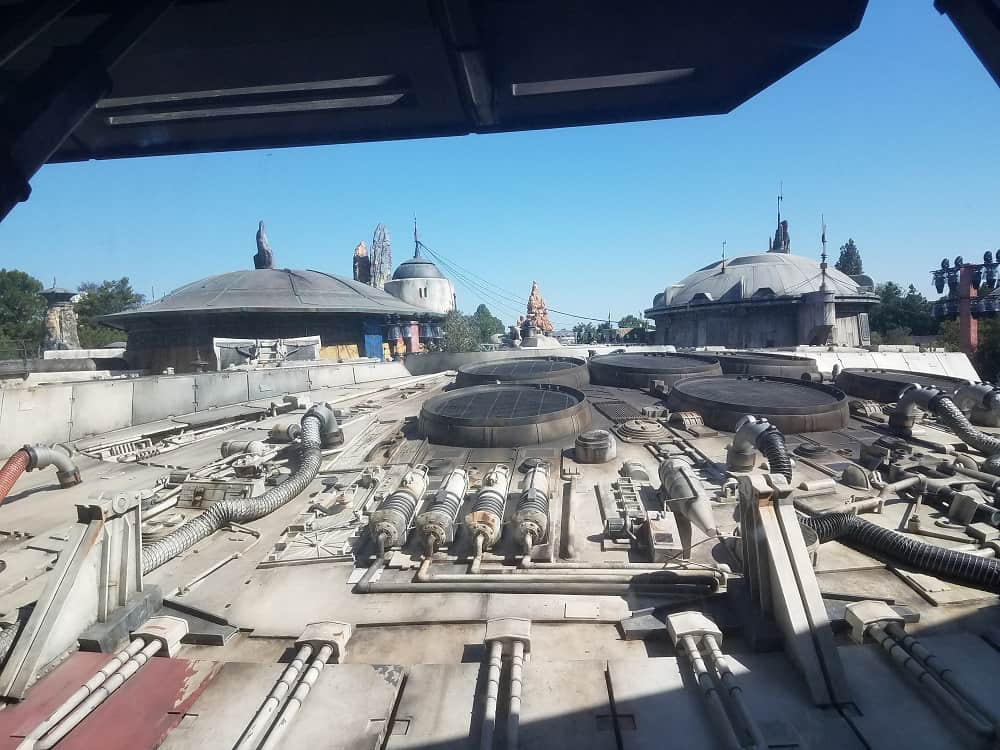 Star Wars: Galaxy's Edge at Disneyland Park - looking from inside out