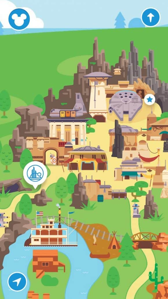 Play Disney Parks app screenshot with Star Wars: Galaxy's Edge