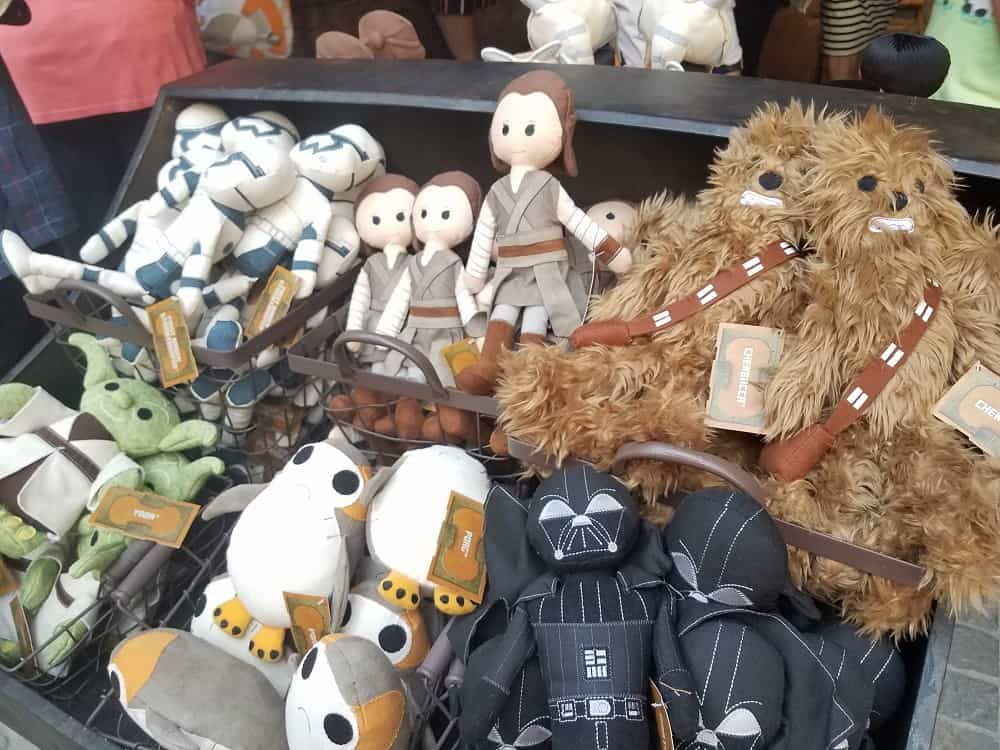 Handmade plush toys at Toydarian Toymaker in Star Wars: Galaxy's Edge