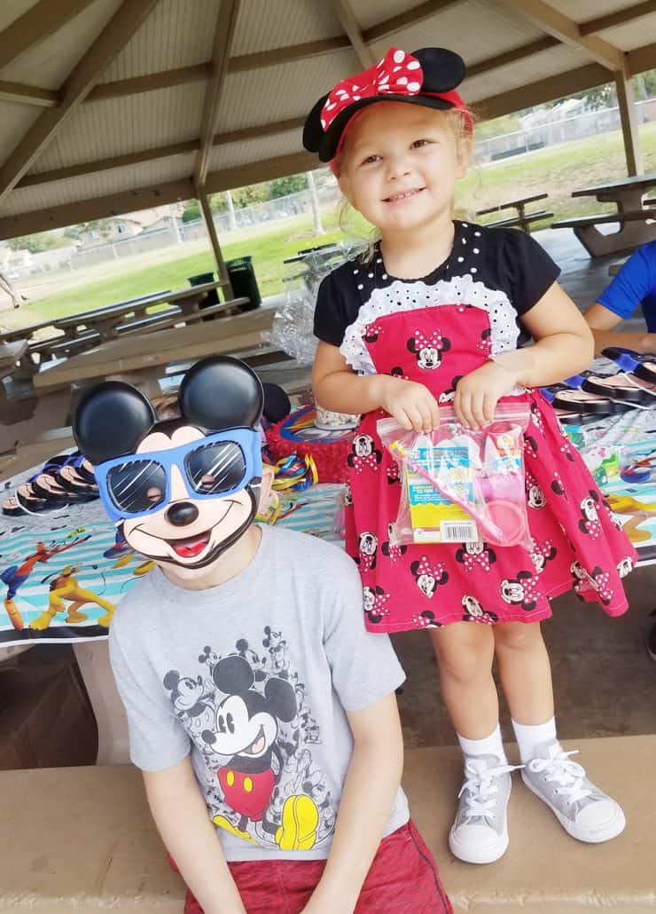 Kids at Disney preschool play date party