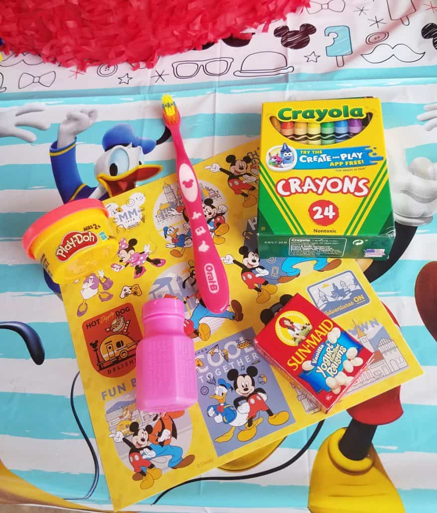Disney preschool party goody bag treats