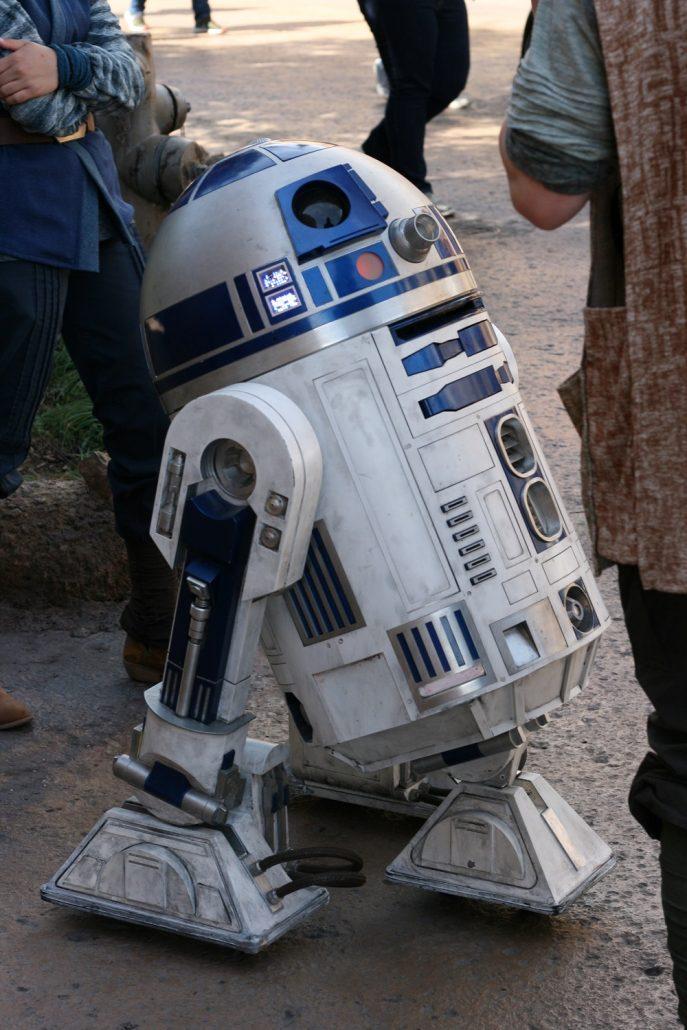 R2D2 from Star Wars inside Galaxy's Edge at Disneyland