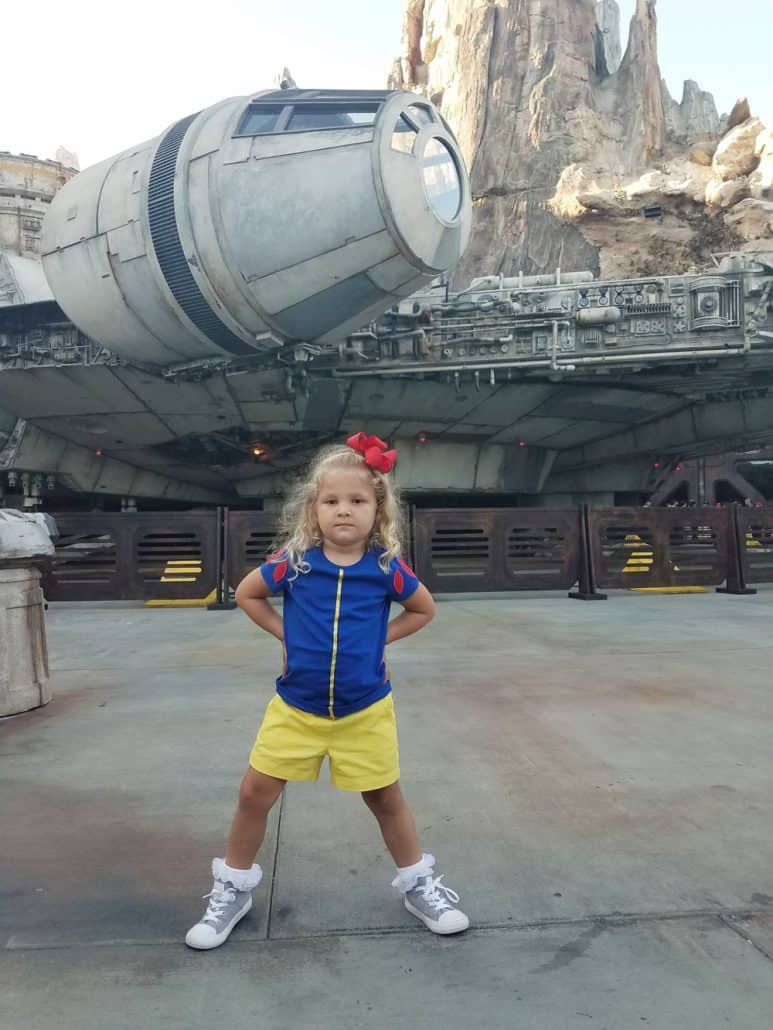 Snow White princess in Star Wars Galaxy's Edge