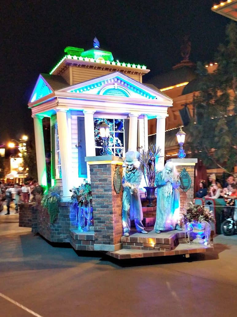 Haunted Mansion Float at Oogie Boogie Bash Frightfully Fun Parade