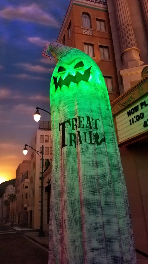 Oogie Boogie Bash Halloween party treat trail signs