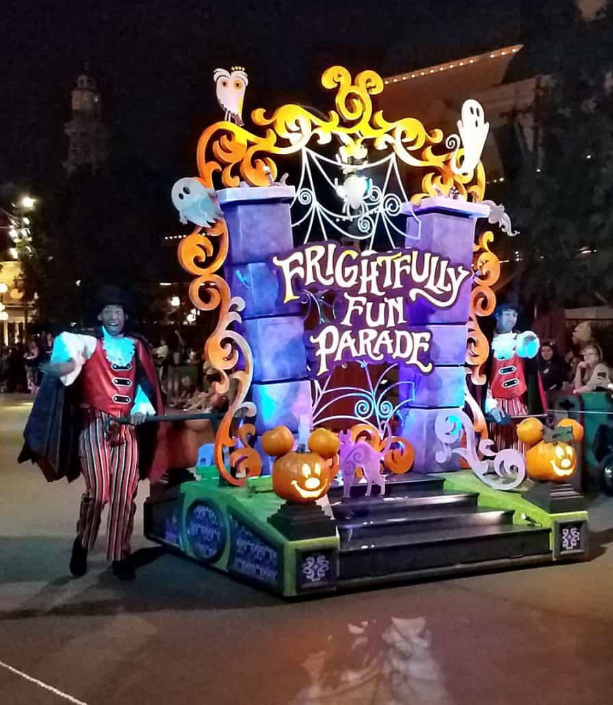 Lead float in Oogie Boogie Bash Frightfully Fun Parade