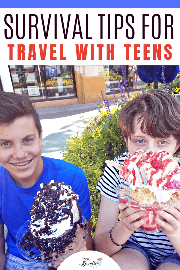 Considering a vacation with teens? Travel with teens can be as challenging as taking along a toddler but so rewarding! Get all the survival tips for taking teens on vacation including choosing a destination, food and snacks, road trip tips and ways to make it fun (really!)