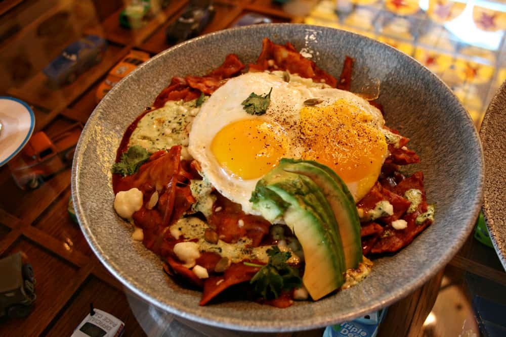 Chilaquiles at Disney California Adventure Lamplight Lounge
