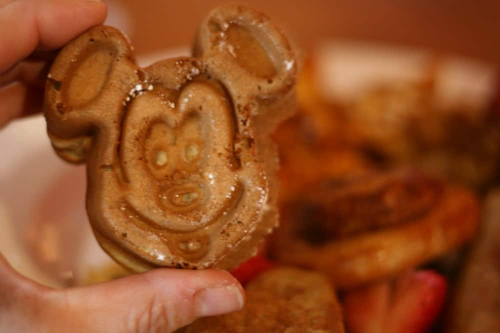 Mickey waffle at PCH Grill