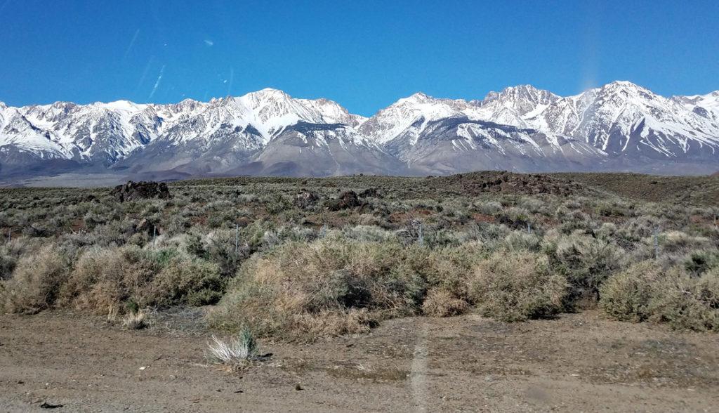 Eastern Sierra mountains in Bishop