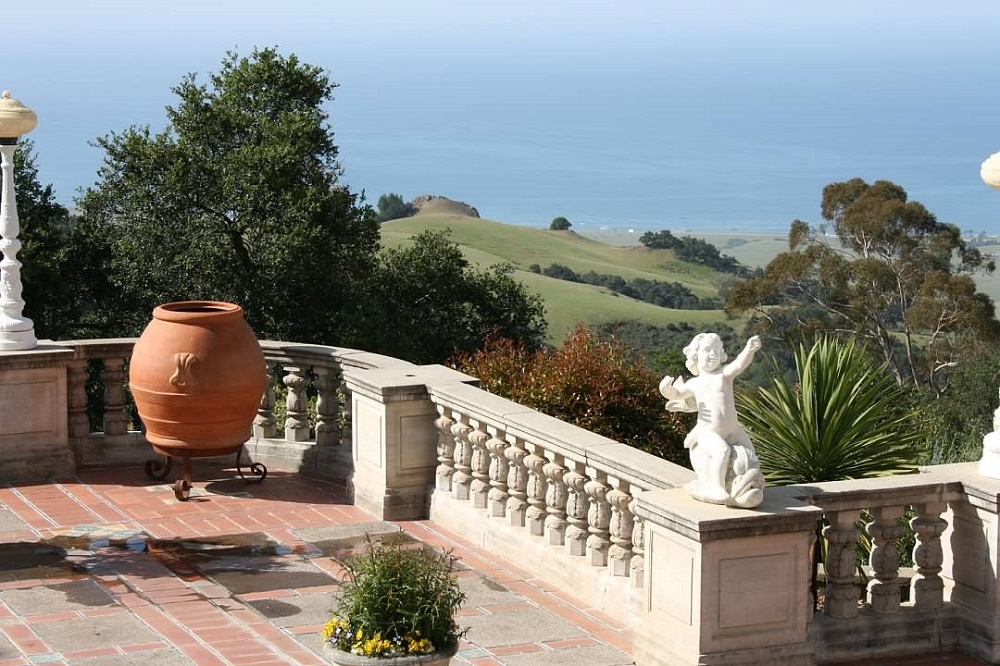 View of the Pacific Ocean from Hearst Castle