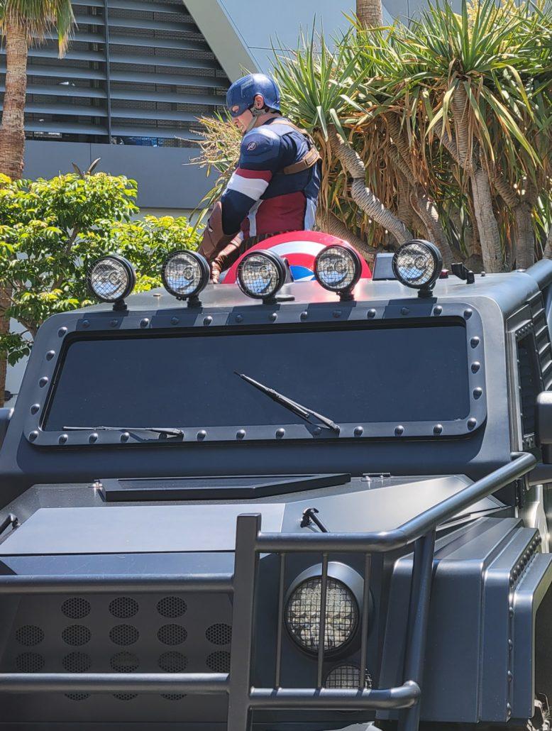 Captain America in Avengers Campus