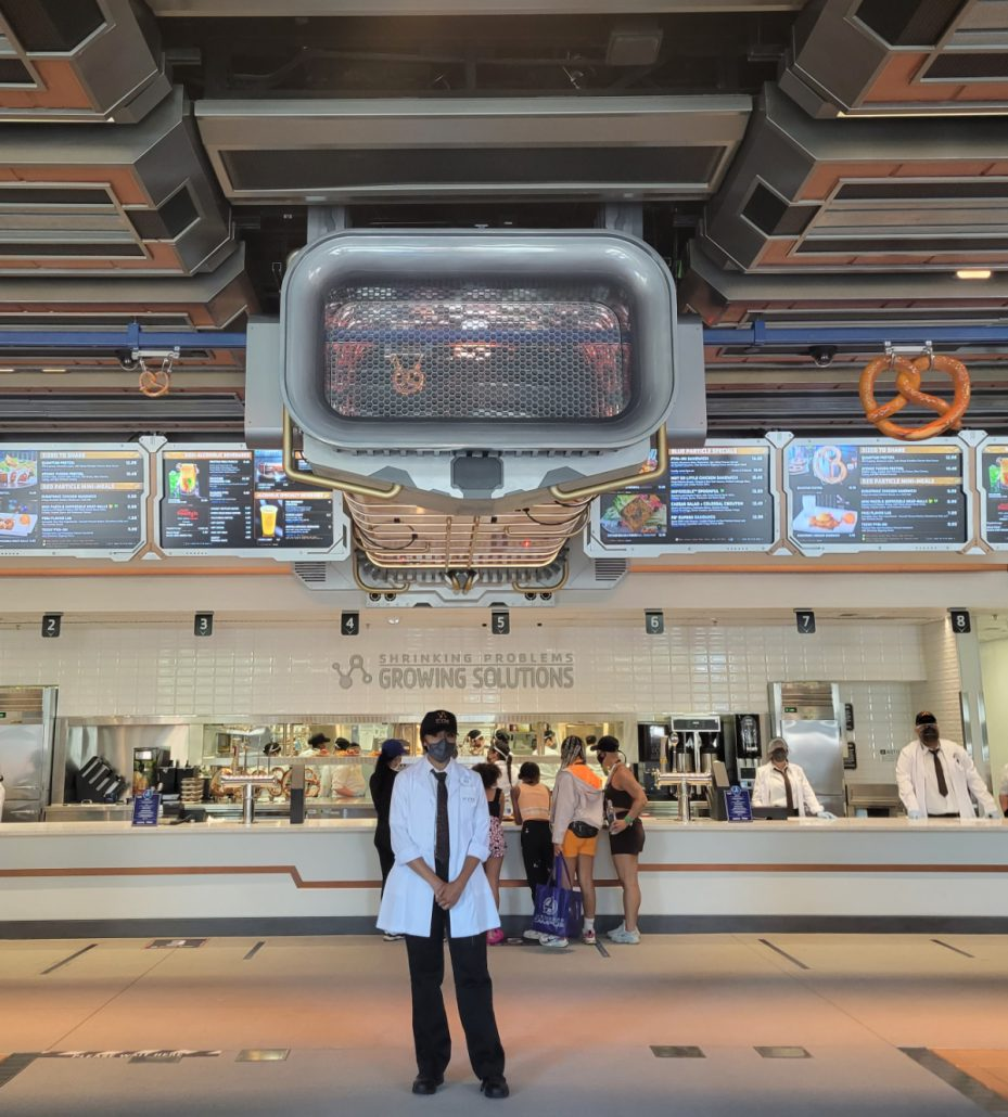 Interior of Pym Test Kitchen at Disney Avengers Campus