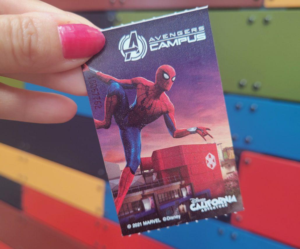 Disneyland park ticket with Spider-Man