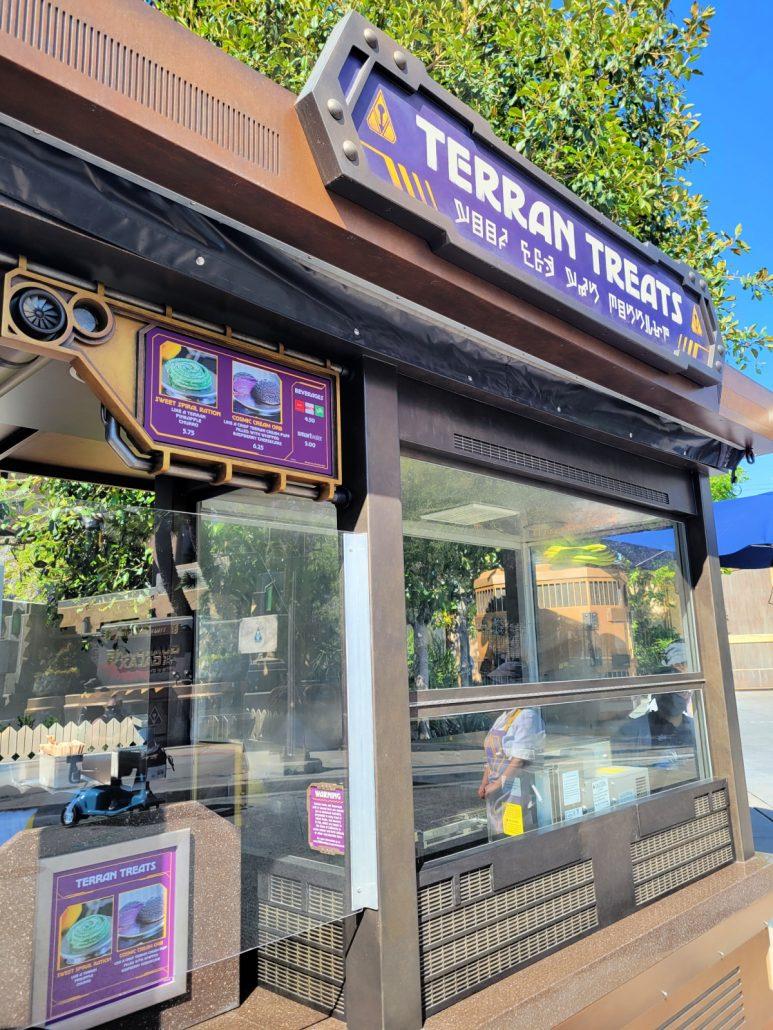 Terran Treats kiosk in Avengers Campus