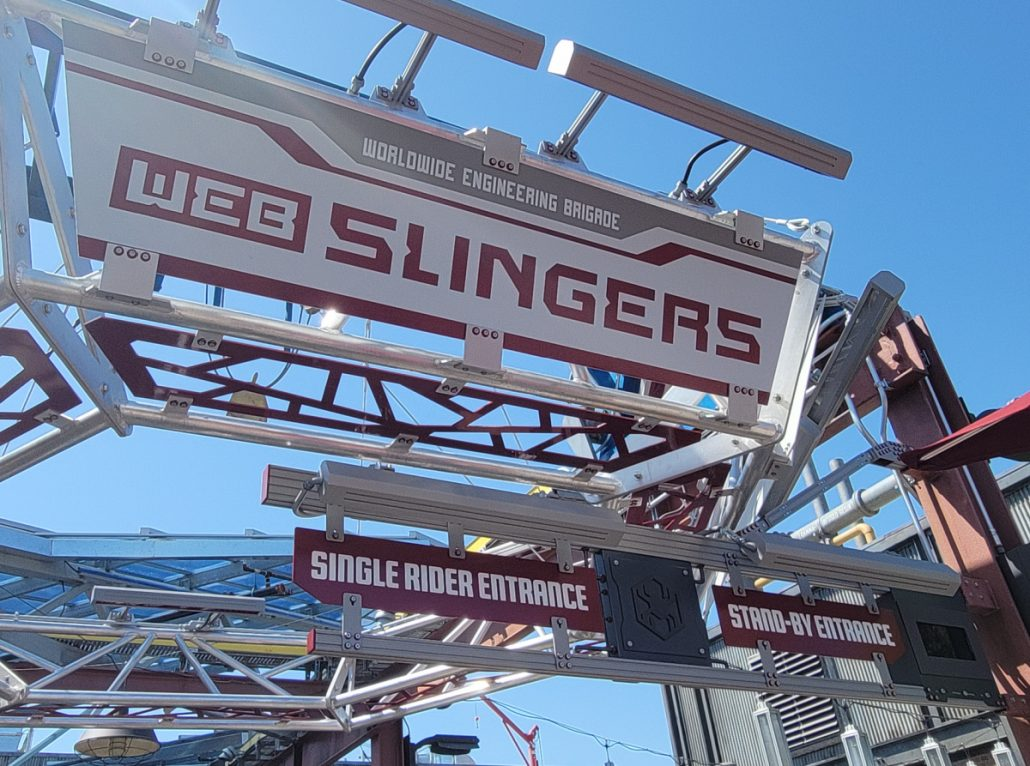 Entrance for WEB SLINGERS ride at California Adventure