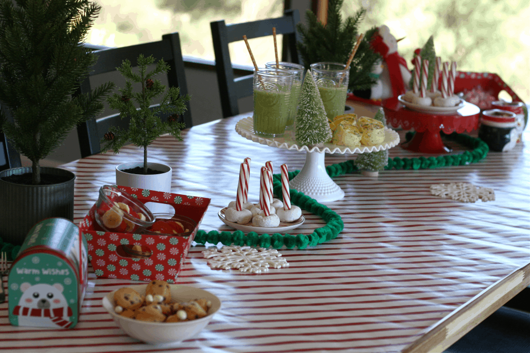 Table set up for Elf on the Shelf breakfast