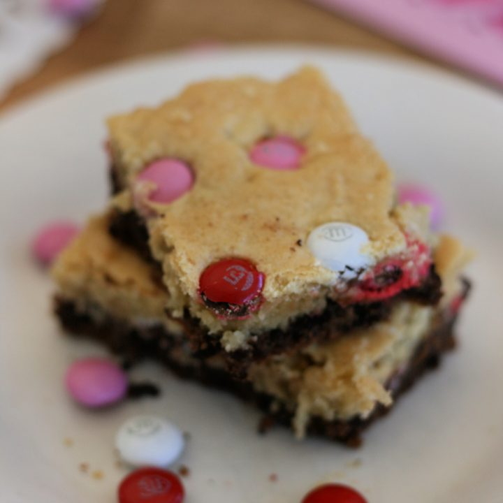 Double Decker Brownies with M&Ms