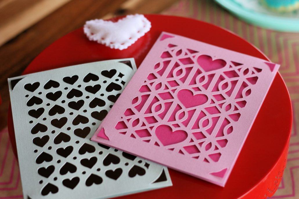 Valentine's Day cards made with the Cricut Joy