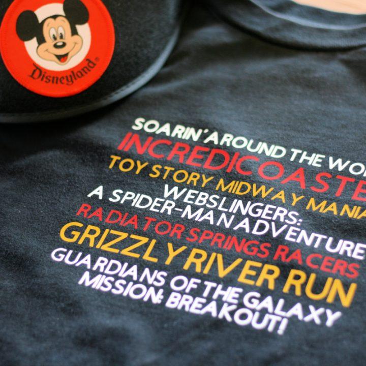 Disney California Cricut shirt thrill ride design
