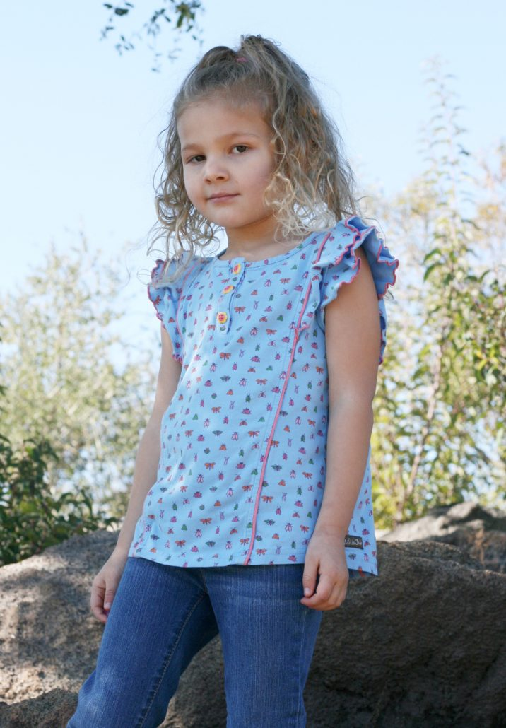 Little girl wearing Matilda Jane t-shirt