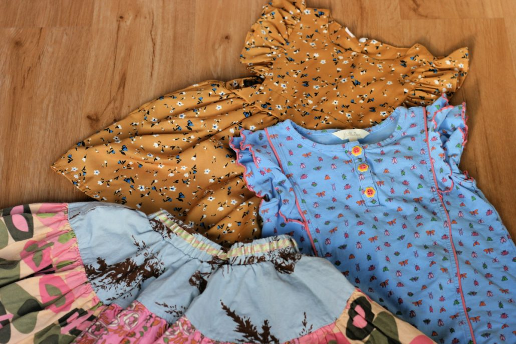 Girl's resale clothing flay lay