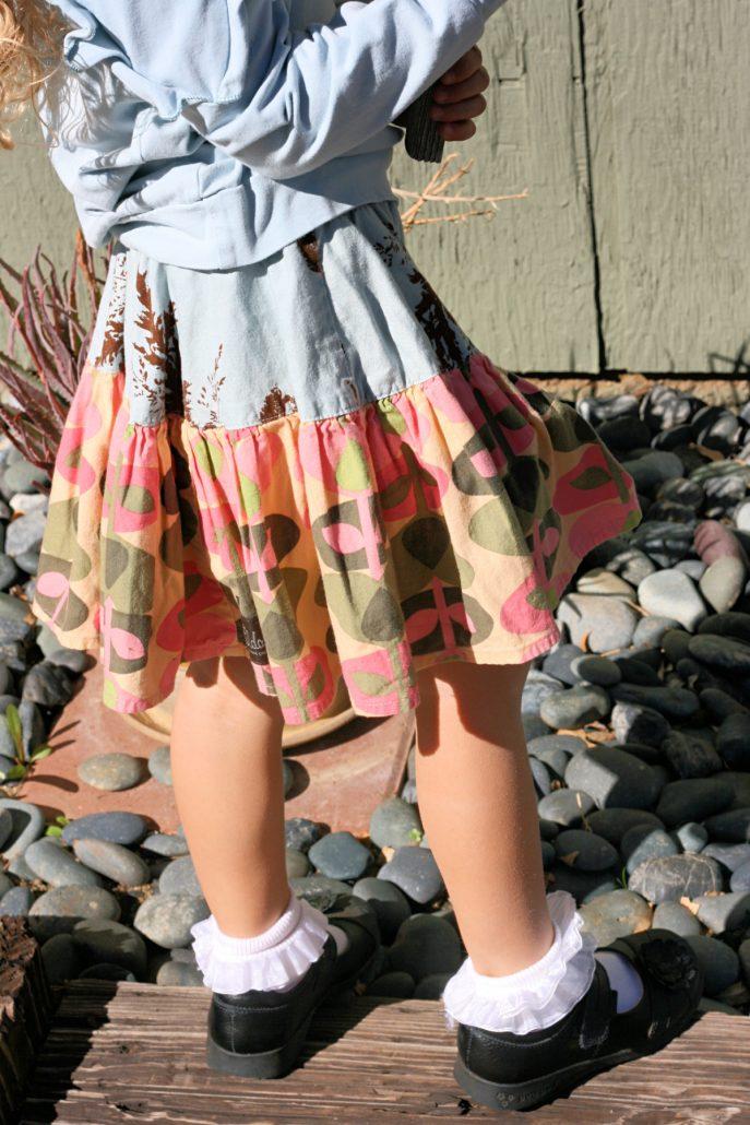Little girl's Matilda Jane skirt