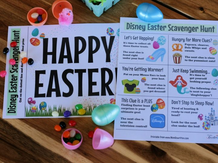 Disney Easter Scavenger Hunt with Free Printables