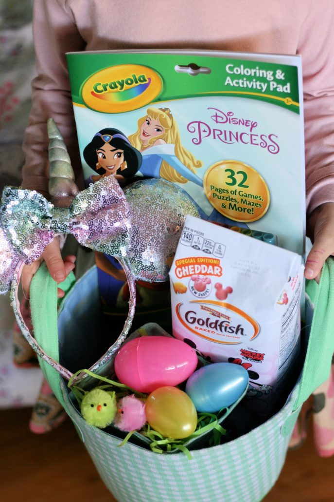 Disney themed Easter basket filled with goodies