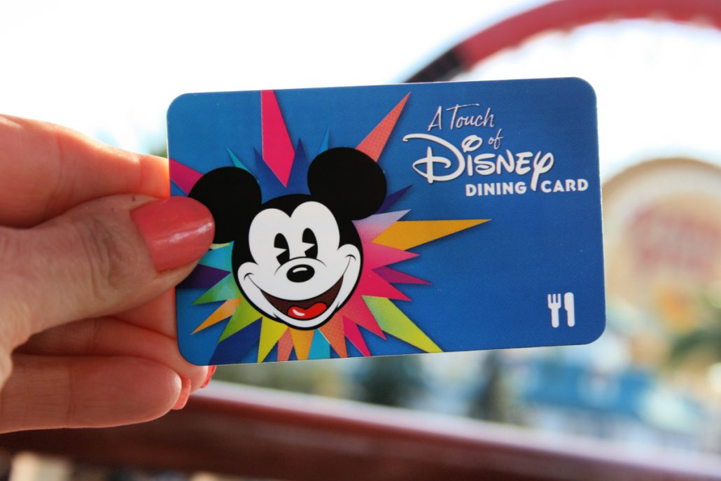 A Touch of Disney dining card