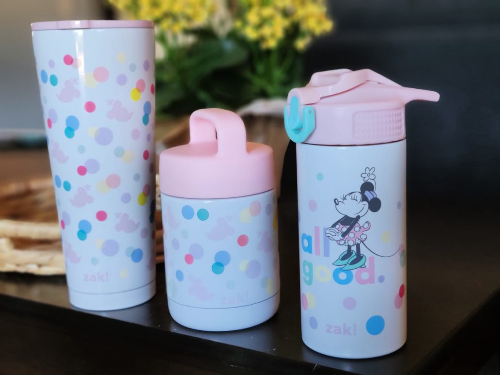 Zak designs minnie mouse polka dot pastel lunch box containers